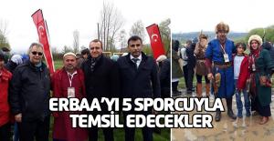 5 Sporcu Erbaa'yı İstanbul'da temsil edecekler
