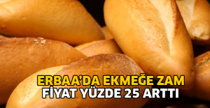Erbaa'da ekmek fiyatlarına zam geldi
