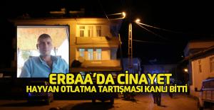 Erbaa'da hayvan otlatma yeri anlaşmazlığı cinayetle bitti