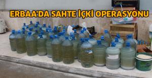 Erbaa'da bin 400 litre sahte içki ele geçirildi