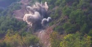 Erbaa'da kontrollü patlama kamerada