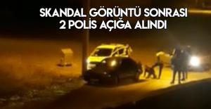 Erbaa'da kaçan sürücüye polis dayağı kamerada