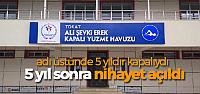 Ali Şevki Erek Yüzme Havuzu hizmete açıldı