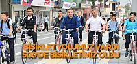 Bisiklet yolu yapan Erbaa Belediyesine 500 bisiklet hediyesi