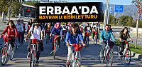 Erbaa'da bayraklı bisiklet turu