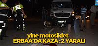 Erbaa'da Minibüs ile Motosiklet Çarpıştı: 2 Yaralı