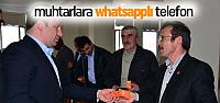 Erbaa'da Muhtarlarla Belediye Whatsapp ile haberleşecek