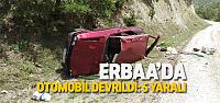 Erbaa'da Otomobil Devrildi: 5 Yaralı