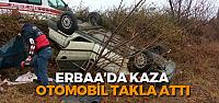 Erbaa'da otomobil takla attı: 1 Yaralı