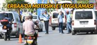 Erbaa'da polis ekiplerinden motosiklet uygulaması