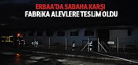 Erbaa'da Tekstil Fabrikası Alevlere Teslim Oldu