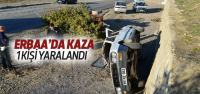 Erbaa'da Trafik Kazası : 1 Yaralı