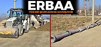 Erbaa'da yol genişletme ve altyapı çalışması