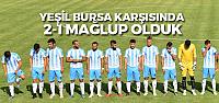 Erbaaspor Bursa deplasmanında 2-1 mağlup oldu