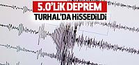 Kırşehir'deki 5.0'lik deprem Turhal'da da hissedildi
