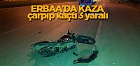 Motosiklete Çarpıp Kaçtı: 3 Yaralı