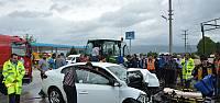 Niksar'da Traktörle Otomobil Çarpıştı: 3 Yaralı