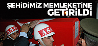Şehit Uzman Çavuş Çeçen'in cenazesi Tokat'a getirildi