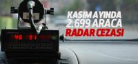Tokat'ta 2 Bin 699 Araca Radar Cezası