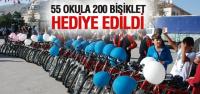 Tokat'ta 55 Okula 200 Bisiklet