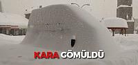 Tokat'ta Otomobiller Kar Altına Kaldı, 351 Köy Yolu Ulaşıma Kapandı