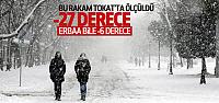 Tokat'ta Termometreler -27 Dereceyi Gördü