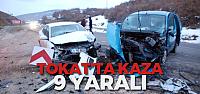 Tokat'ta Trafik Kazası: 9 Yaralı