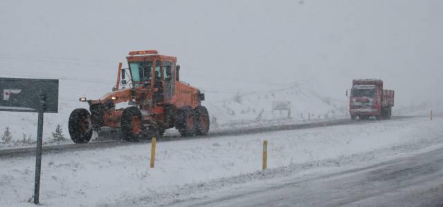 Tokat'ta 139 köy yolu ulaşıma kapandı