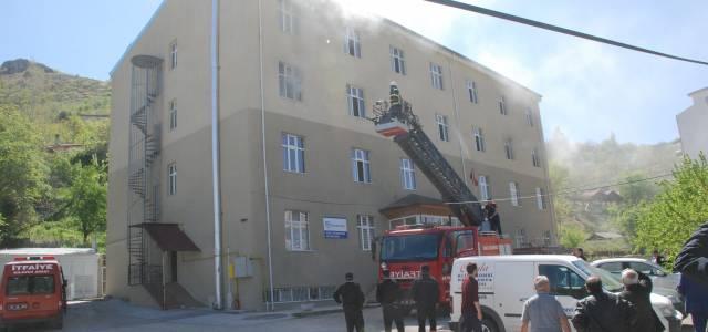 Tokat'ta erkek Kur'an kursunda yangın korkuttu
