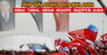 MHP Tokat'ta 7 ilçenin adayını açıkladı