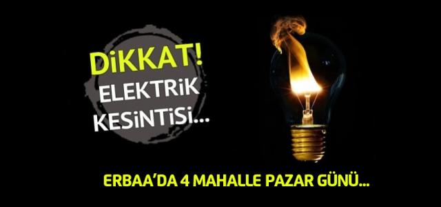 ÇEDAŞ Erbaa'da 4 mahallede elektrik kesintisi uygulayacak.