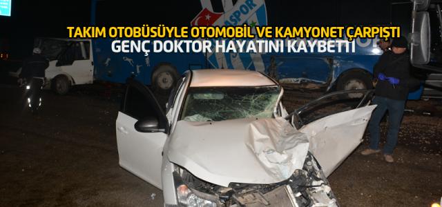 Erbaaspor takım otobüsünün karıştığı kazada 1 ölü, 3 yaralı