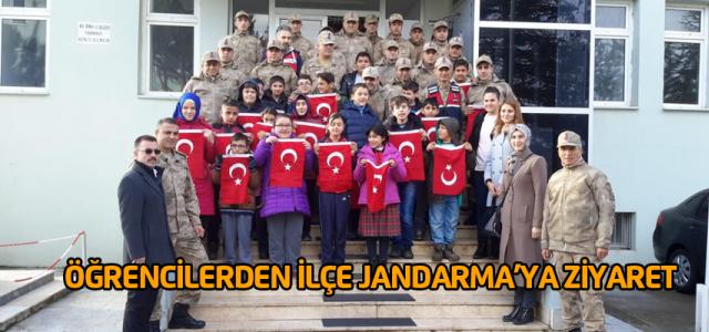 Engelli Öğrencilerden İlçe Jandarma'ya ziyaret