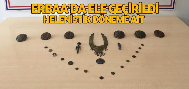 Erbaa'da Helenistik döneme ait tarihi eserler ele geçirildi