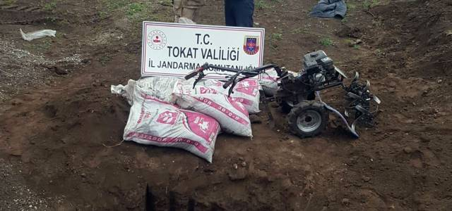 Erbaa'da Çaldığı tarım aletlerini gömerek saklayan kişi yakalandı