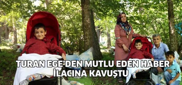 SMA hastası Turan Ege, ilacına kavuştu