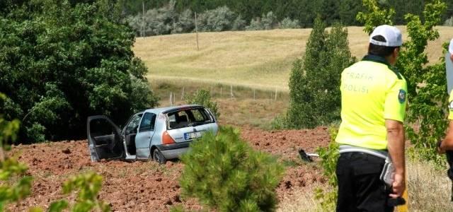 Tokat'ta takla atan otomobil tarlaya uçtu: 1 yaralı