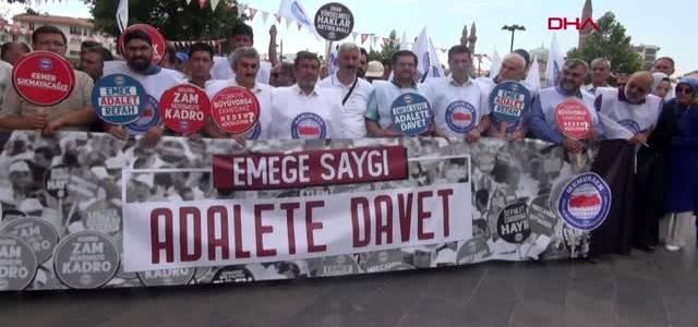 SivasveTokat'ta Memur-Sen'den toplu sözleşme tepkisi