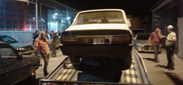 Tokat'ta 12 bin liralık araçla drift atınca 10 bin 626 lira ceza yedi