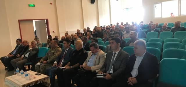Turhal'da muhtarlar toplantısı yapıldı