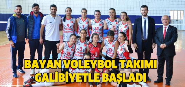 Erbaa Gençlik Spor Bayan Voleybol takımı galibiyetle başladı