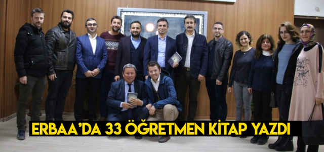 Erbaa'da 33 Öğretmen kitap yazdı