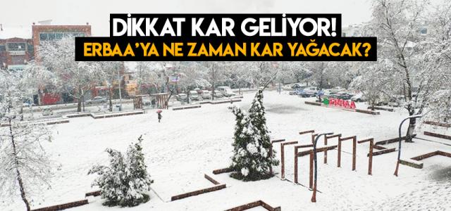 Erbaa'ya kar ne zaman yağacak? Dikkat Kar geliyor!