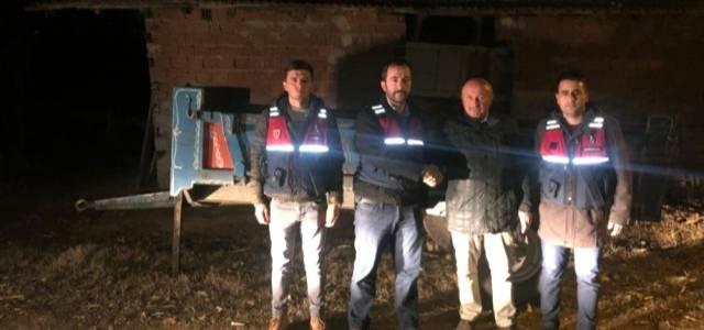 Niksar'dan çalınan traktör römorku Erbaa'da bulundu