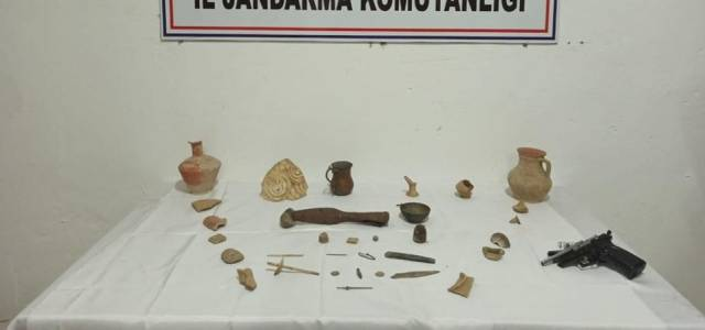 Turhal'da tarihi eser operasyonu
