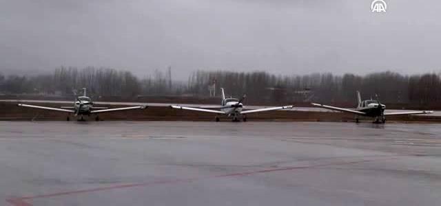 Şehidin naaşını taşıyan askeri uçak Tokat Havalimanı'na iniş yapamadı