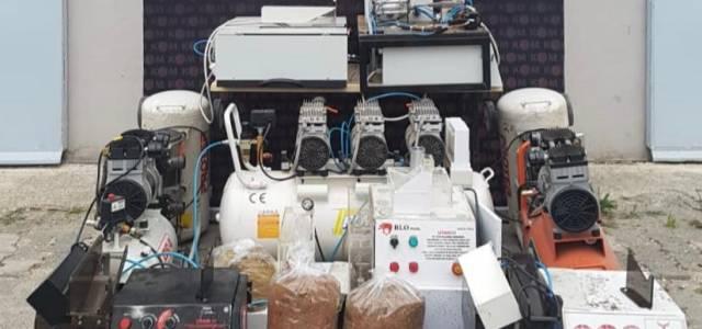 Tokat'ta kaçak sigara imalathanesine baskın