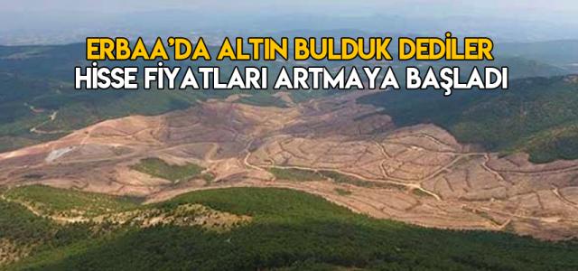 Erbaa'da altın bulduk açıklamasından sonra şirketin hisse fiyatı tırmanıyor