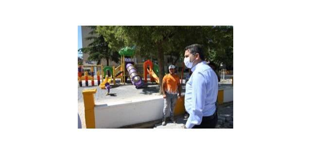 Tokat'ta çocuk oyun parkları yenileniyor