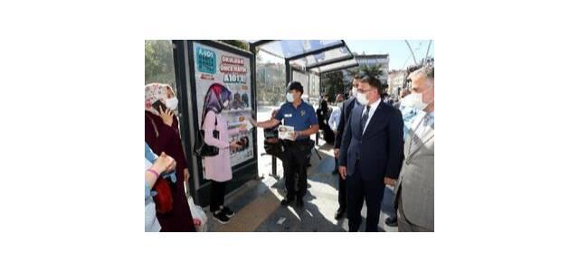 Tokat'ta il protokolünden sosyal mesafe ve maske denetimi